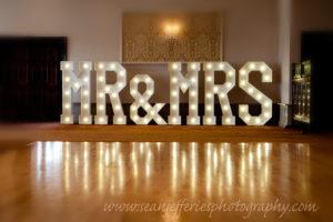 mr & mrs wedding letters