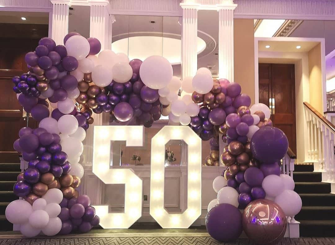 giant Light up birthday numbers. Shelbourne Hotel Dublin. 60 50 40 30 21