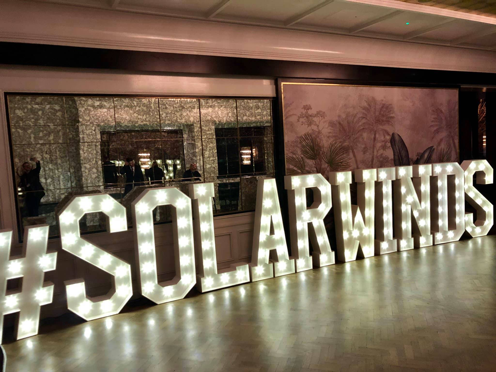 solarwinds river lee cork company branding signage team building awards conference